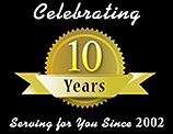 celebrating 10 years Serving for You Since 2002